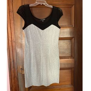 NWOT gray and black mesh detail Forever 21 dress